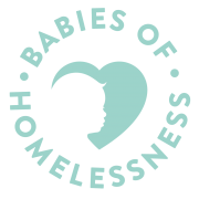 babies of homelessness stamp logo
